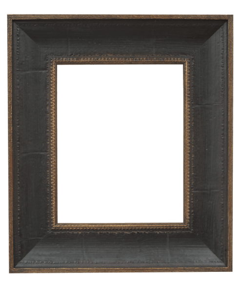 distressed brown mirror frame