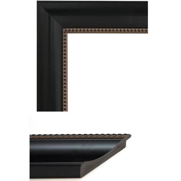 black with beading mirror frame samples
