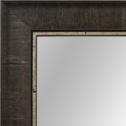 4032 Pewter Burl Framed Mirror