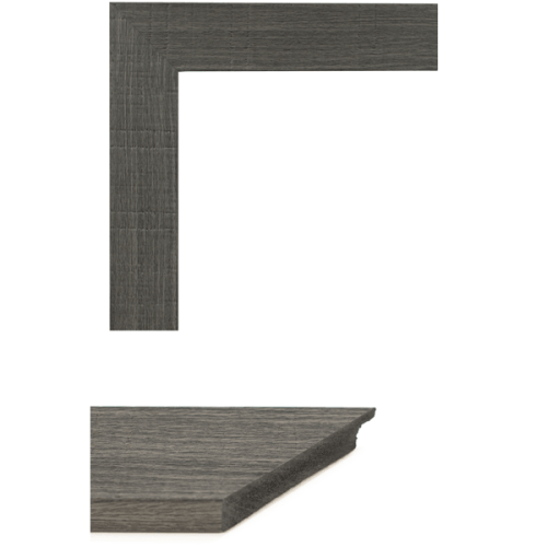 4063 Grey Oakwood Mirror Frame Sample