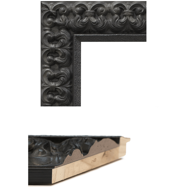 Black Fleur De Lis Mirror Frame Samples