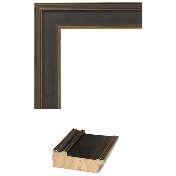 black and gold flat mirror frame samples