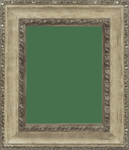 Ivory & Silver Mirror Frame