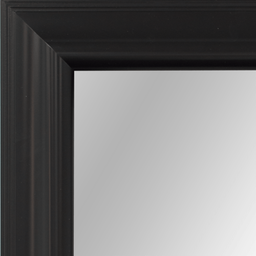 4121 Black Satin Framed Mirror