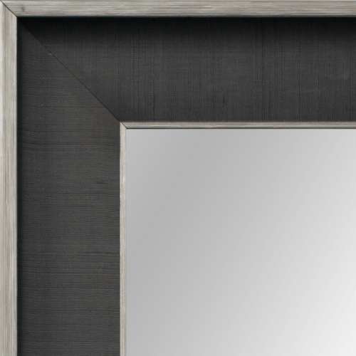 4122 Smoke Linen Framed Mirror