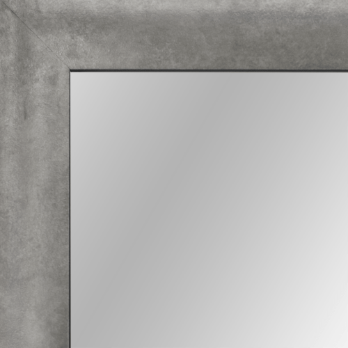 4124 Lunar Silver Scoop Framed Mirror