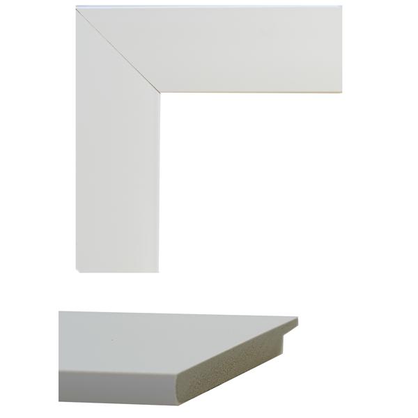 white flat mirror frame samples