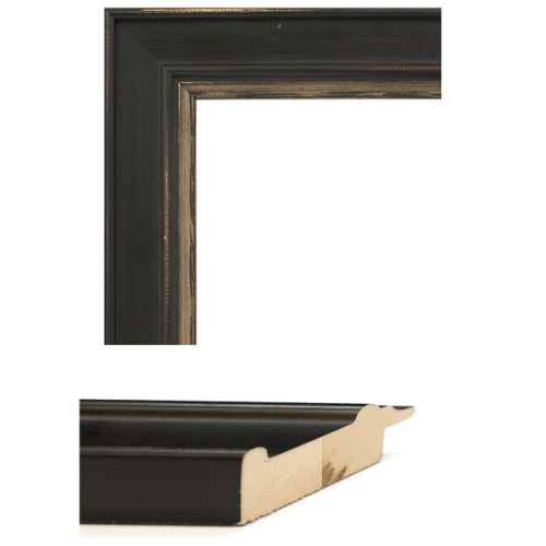 4024 Brown Flat Champagne Mirror Frame Sample