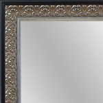 4054 Antique Silver With Black Framed Mirror