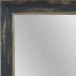 4058 Pewter Black Framed Mirror