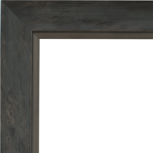 4059 Grey Silver Mirror Frame