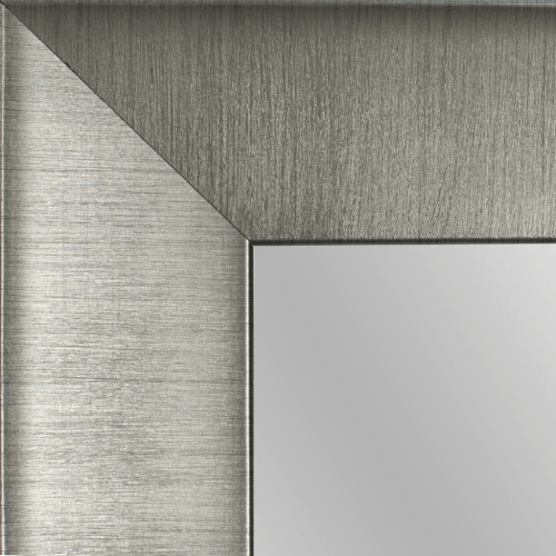 4145 Wide Brush Gunmetal Framed Mirror