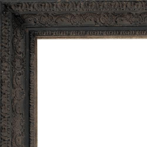 2435 Aged Black Mirror Frame