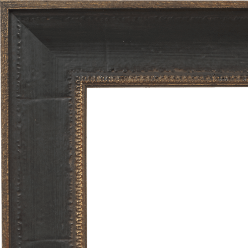 4027 Distressed Brown Mirror Frame