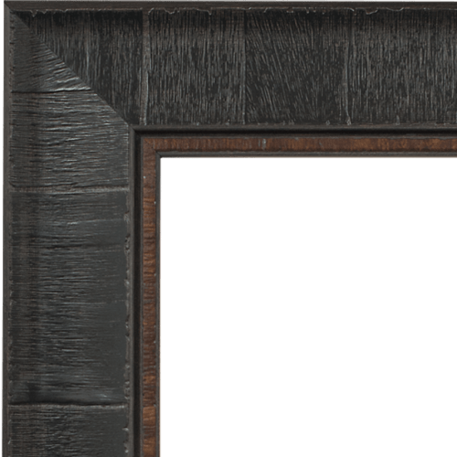 4029 Dark Burl Brown Mirror Frame