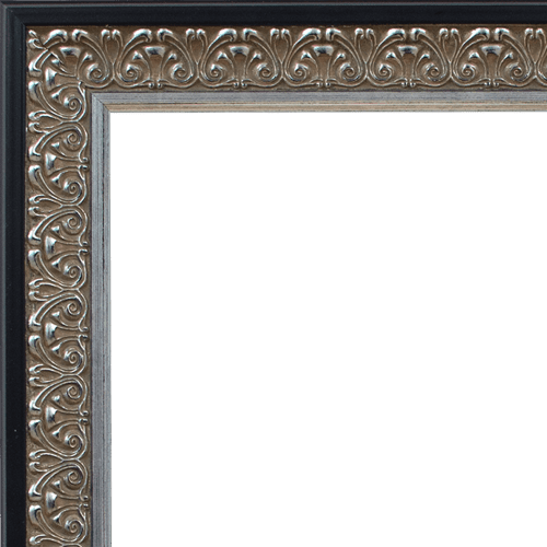4054 Antique Silver with Black Mirror Frame