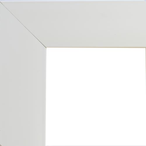 4138 White Flat Mirror Frame