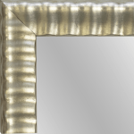 4142 Silver Leaf Framed Mirror