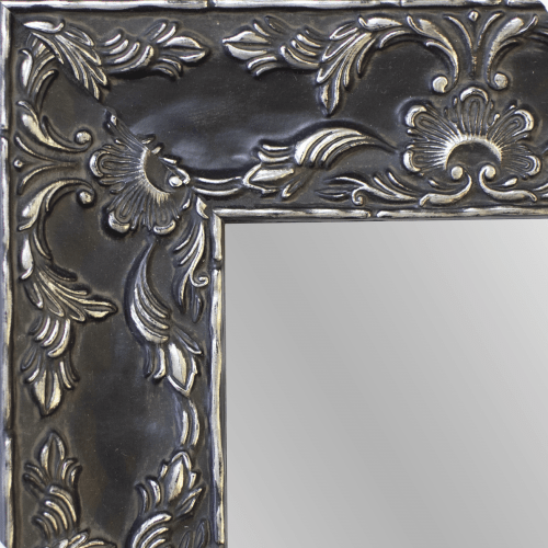 4150 Renaissance Antique Pewter Framed Mirror