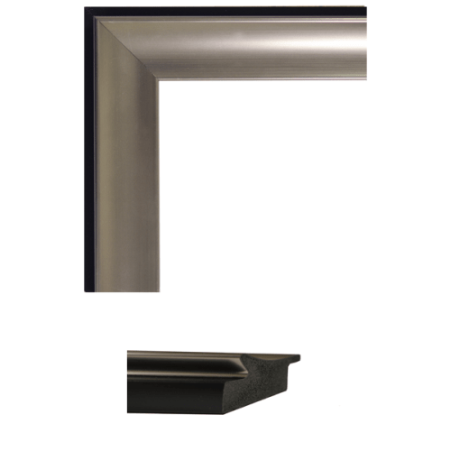 4164 Tempo Pewter Scoop Mirror Frame Sample