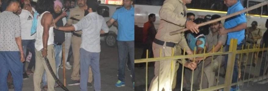 उत्तराखंड :  जब देर रात रुद्रपुर में निकल गई तलवार, एसपी पर हमला और पुलिस का लाठीचार्ज