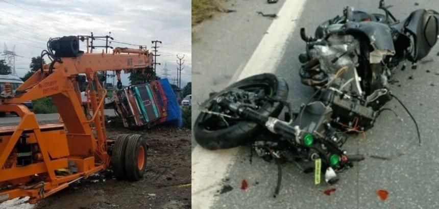 उत्तराखंड : ट्रक और बाइक की भीषण भिड़ंत, महिला सहित दो लोगों की मौत, इलाके में शोक