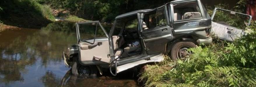 उत्तराखंड : भीषण सड़क दुर्घटना में 2 की मौत 1 घायल, नदी में जा गिरा वाहन