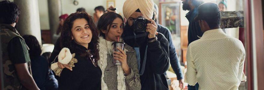 तस्वीरें देखिए, तापसी पन्नू फिल्म हसीन दिलरुबा की शूटिंग में व्यस्त हैं उत्तराखंड में, अभिनेता विक्रांत मैसी भी हैं साथ में