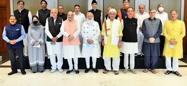 जम्मू-कश्मीर के नेताओं संग पीएम मोदी की बैठक, कहा युवाओं की आकांक्षाओं को पूर्ण करना सुनिश्चित करें