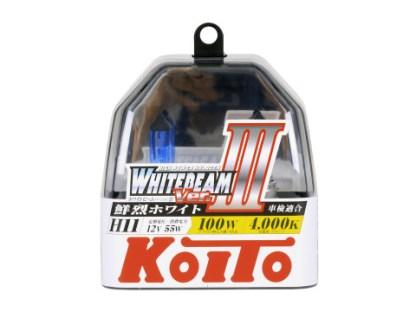 Лампа KOITO Whitebeam III H11 12V 55W 2шт. P0750W