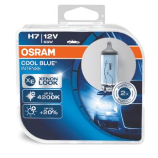 Лампа OSRAM Cool Blue Intense H7 12V 55W 2шт. 64210CBI-HCB
