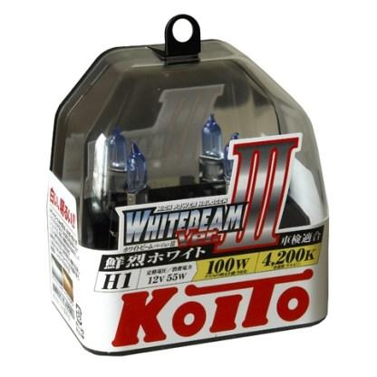 Лампа KOITO Whitebeam III H1 12V 55W 2шт. P0751W