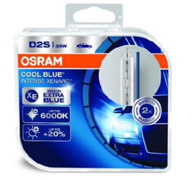 Лампа ксеноновая OSRAM Xenarc Cool Blue Intense D2S 85V 35W 2шт. 66240CBI-HCB