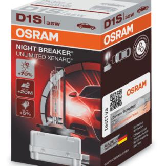 Лампа ксеноновая OSRAM Xenarc Night Breaker Unlimited D1S 85V 35W 1шт. 66140XNB