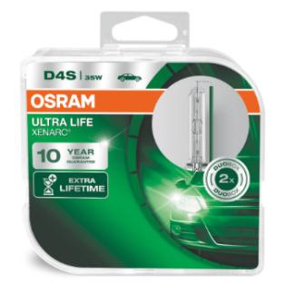 Лампа ксеноновая OSRAM Xenarc Ultra Life D4S 42V 35W 2шт. 66440ULT-HCB