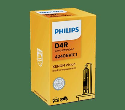 Лампа ксеноновая PHILIPS Xenon HID D4R 42V 35W 1шт. 42406VIC1