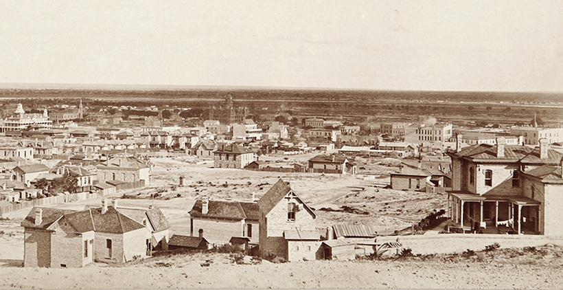 Эль-Пасо в 1880 году