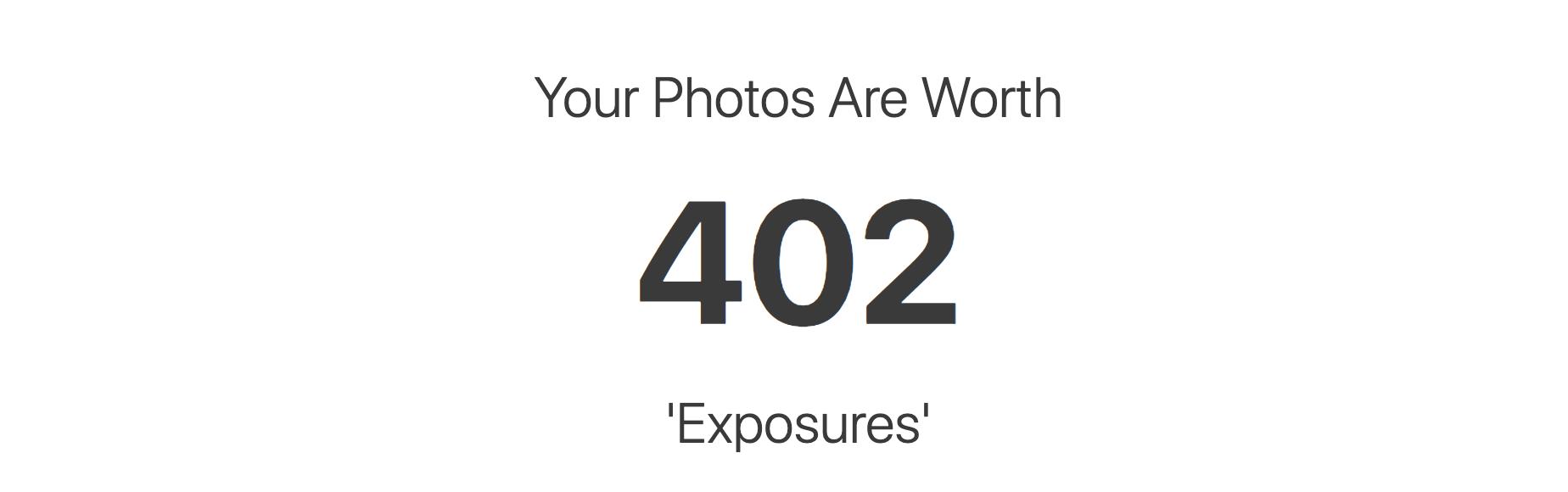 "The ""Exposure Calculator"""