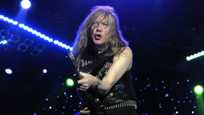VIDEO: Iron Maiden's Janick Gers' Guitar Accidentally Flies Into Crowd