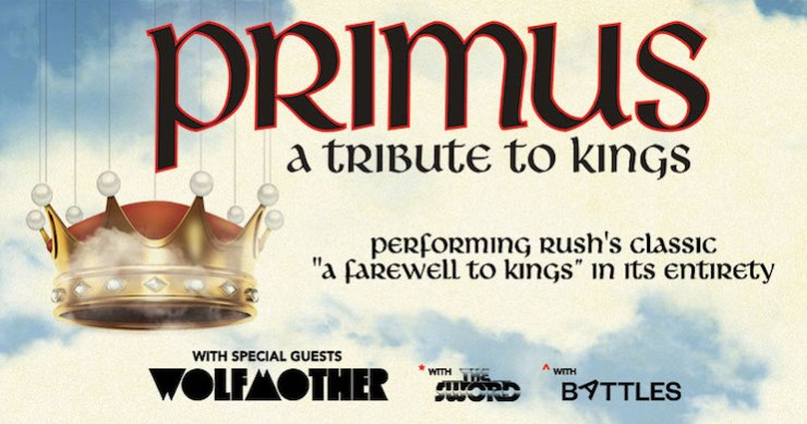 Primus Announces 'A Tribute to Kings' Summer Tour to Honor Rush
