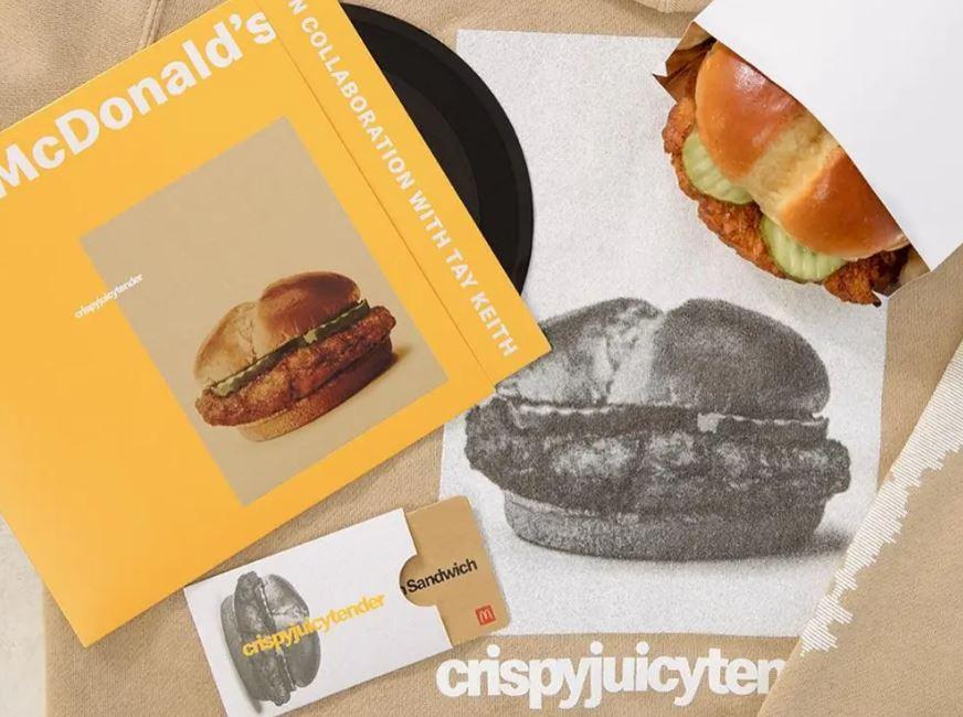 McDonald's Offers Vinyl Record with New Crispy Chicken Sandwich Drop