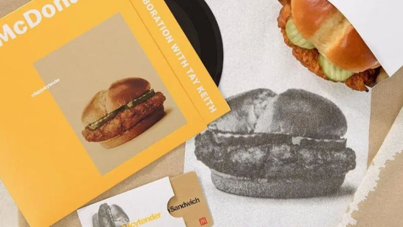 McDonald's Offers Vinyl Record with New Crispy Chicken Sandwich Drop
