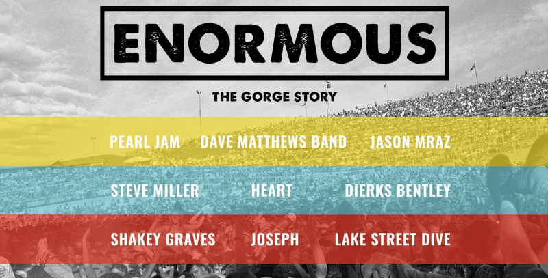 """Documentary """"Enormous: The Gorge Story"""" To Celebrate Legendary Venue"""