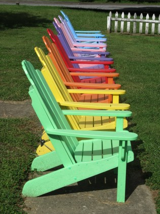 Adirondack Chairs for the virtual beach
