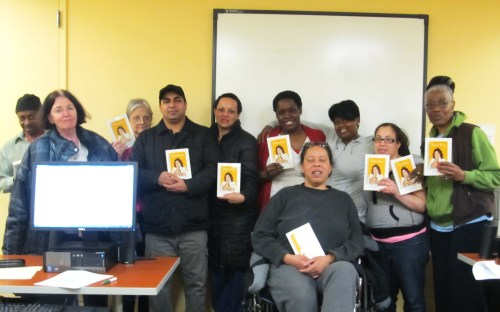 Some of the student recipients of the book.