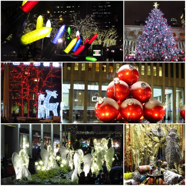 Haiku: Christmas Is Love In Action - Collage of holiday display