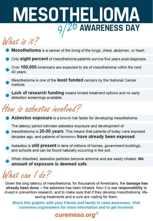 Mesothelioma Awareness Day: Get Involved! Facts & Graphic