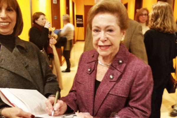 BY THE BOOK: An Evening At The New York Times... Mary Higgins Clark signing my copy.