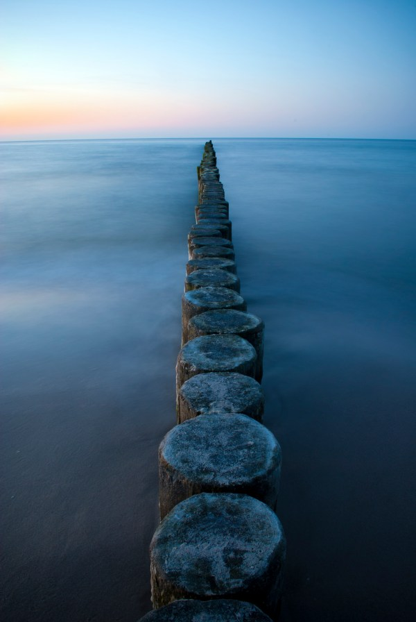 Motivation Mondays: PERSPECTIVE - Groynes Baltic Sea. Public domain image.