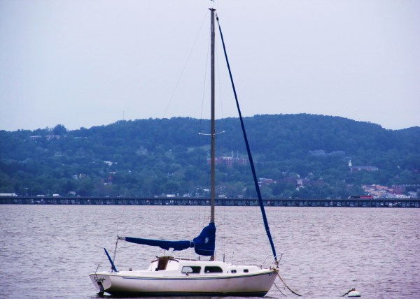 Weekly Photo Challenge: AFLOAT...  boat on the Hudson River